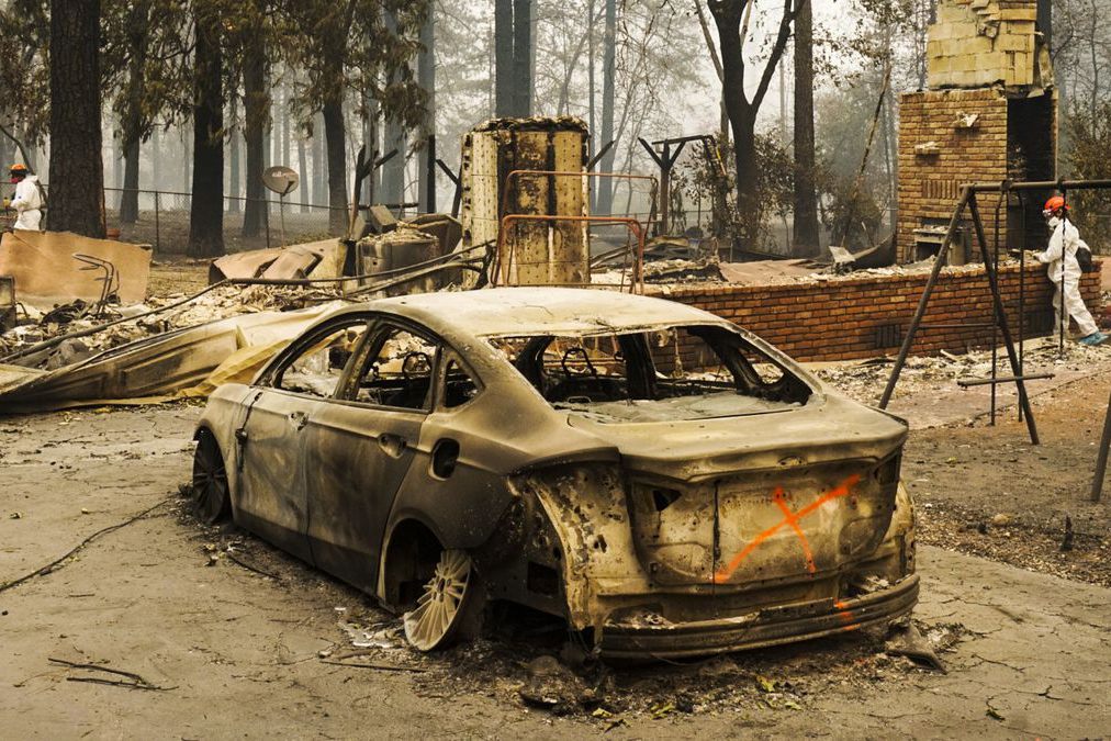 California fire came to an end