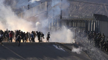 Tear Gas and immigrant caravan