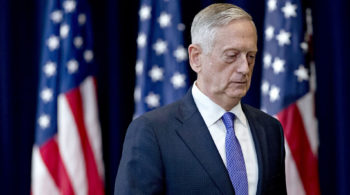 The Departure of Mattis is startling`