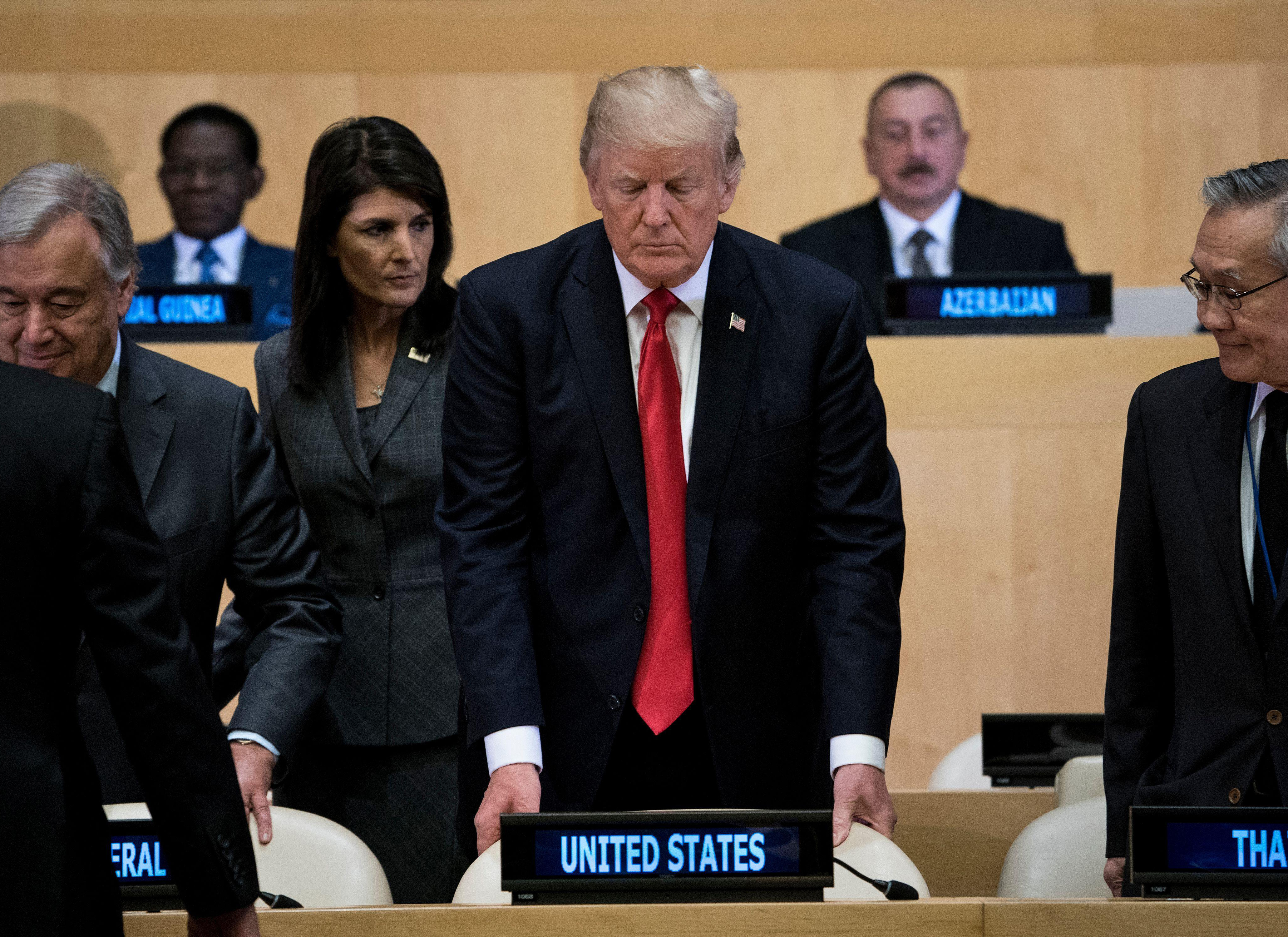 President Trump and proceeding of United Nations