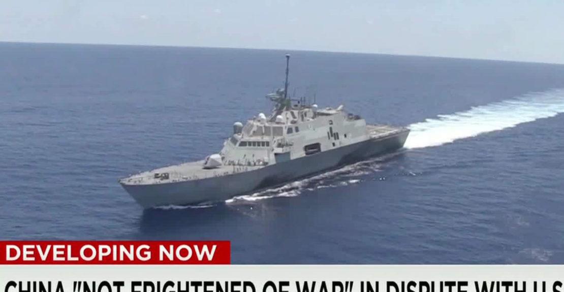 warship in China's sea