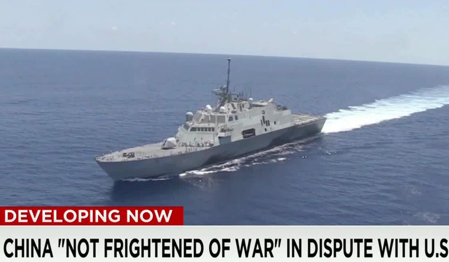China warns the US over warship in China's sea