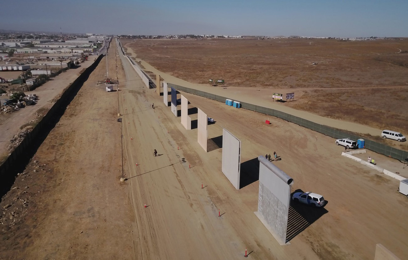 President Trump decided to build a medieval wall on the Mexican border