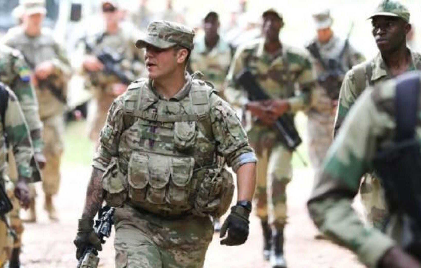 US troops deployed in Congo